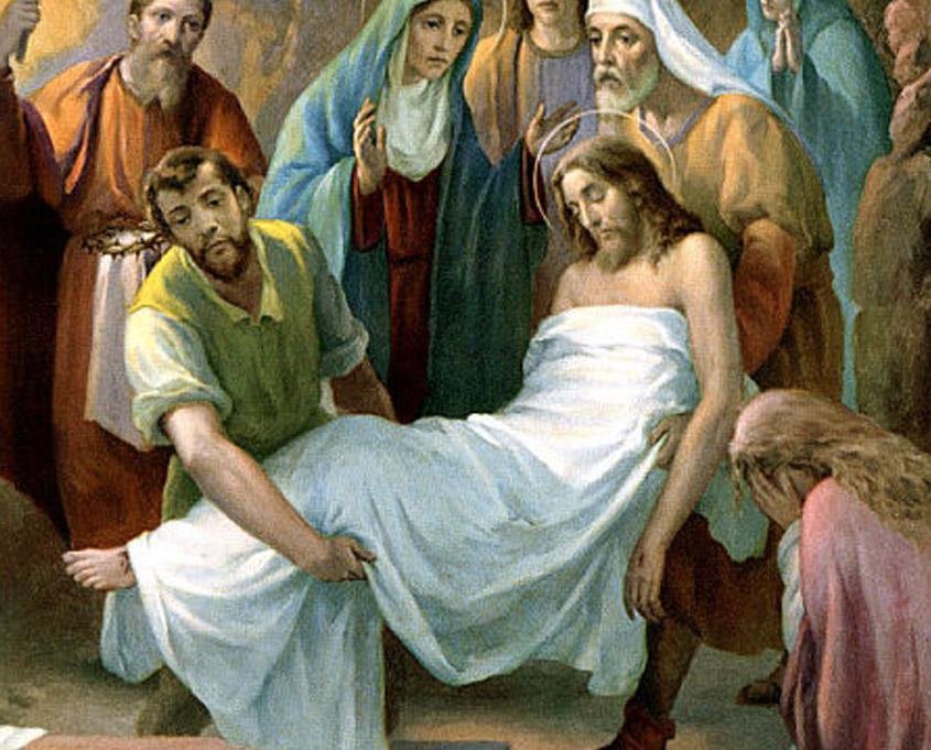 Preparación al vía-crucis, décimo cuarta estación | La Caridad ...