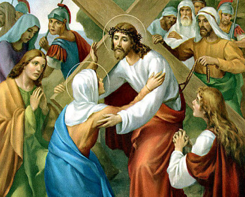 Preparación al vía-crucis, cuarta estación   La Caridad Pozoblanco