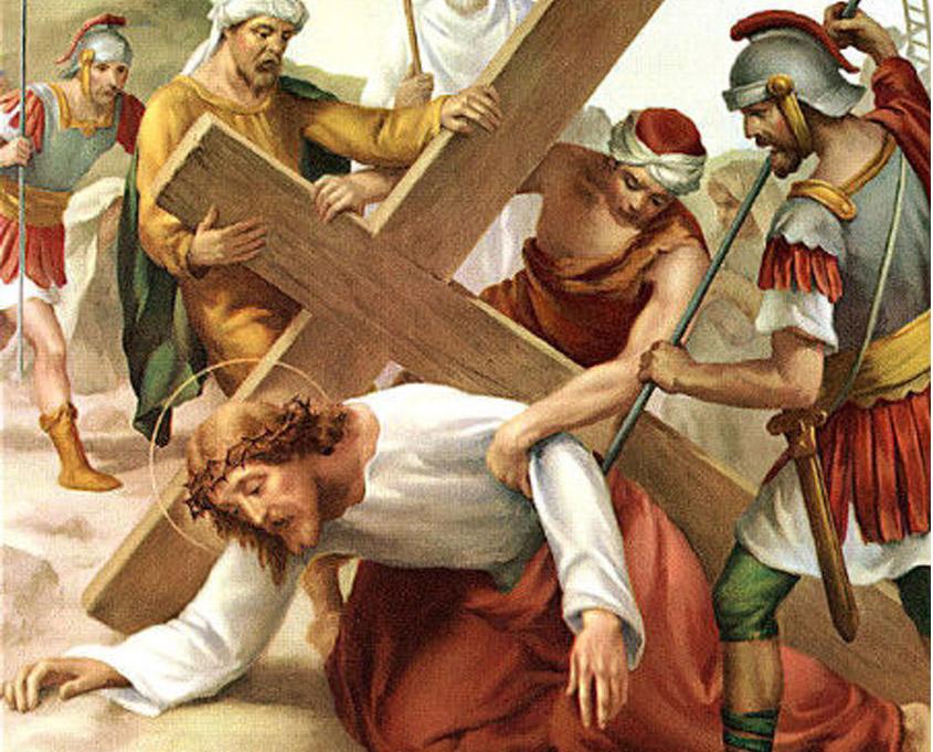 Preparación al vía-crucis, séptima estación   La Caridad Pozoblanco